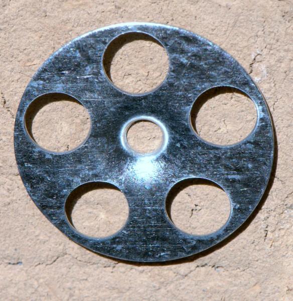 Halteteller verzinkt für Lehmbauplatten